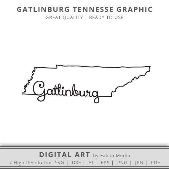 Instant Download Gatlinburg Tennessee State Outline Graphic As Seen In Photo Instant Download Package Contains Quan Memphis Tattoo Tennessee Tattoo Tennessee