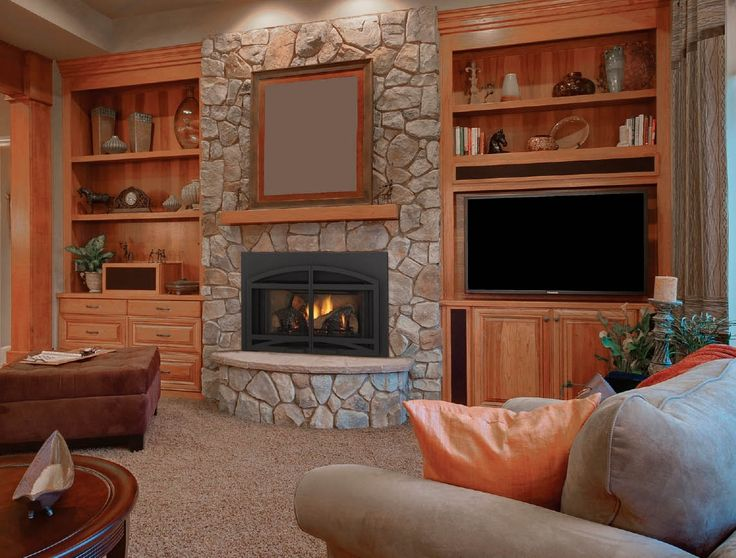 propane fireplace designs with tv above with shelves   ... Footstool Mesmerizing Decoration For Fireplace With TV Design Ideas