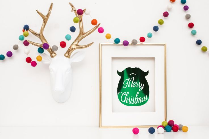 Real foil print - Merry Christmas by CheekyLittleMoo on Etsy https://www.etsy.com/au/listing/258936903/real-foil-print-merry-christmas
