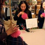 "Last night, the Anthropologie location at Chelsea Market held a workshop entitled ""Skewer A Sculpture"" where the store's display designers taught customers how to make a small-scale version of one of their current decorative items. This class was one of a series happening this week to celebrate the shop's one-year anniversary."