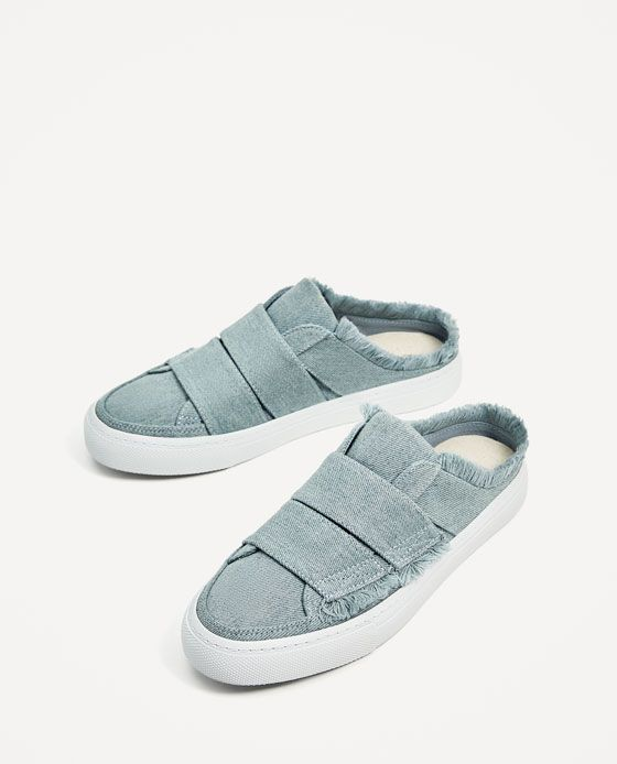 FRAYED EDGE MULE SNEAKERS - Available in more colours