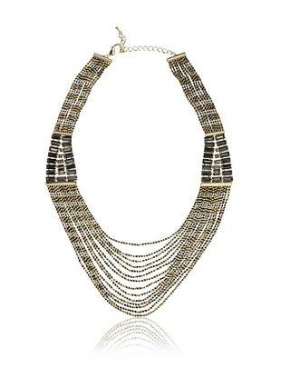 Sparkling Sage Faux Black Diamond Statement Necklace