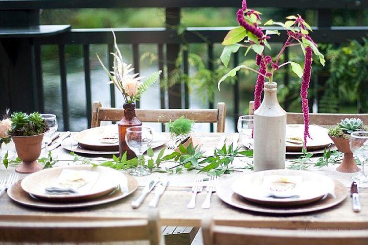 'Ballerina Bride' Eco Wedding Inspiration - eco-friendly tableware by Little Cherry at https://www.littlecherry.co.uk/