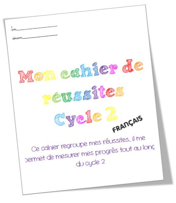 Cahier de réussites Cycle 2 Français IO 2016 - Rigolett'