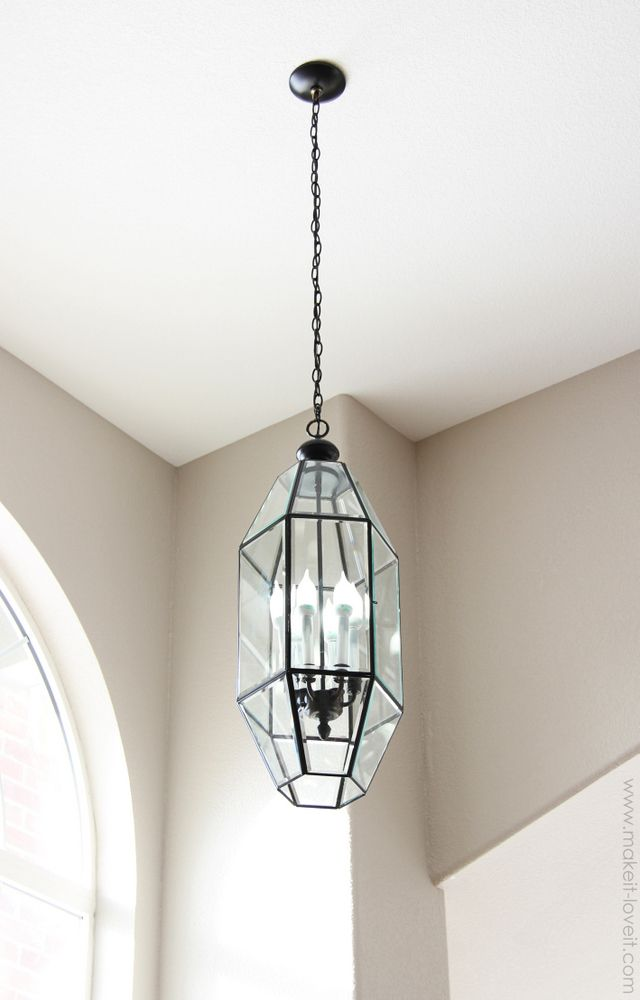 Re-paint old gold light fixtures! Saves a ton of $$