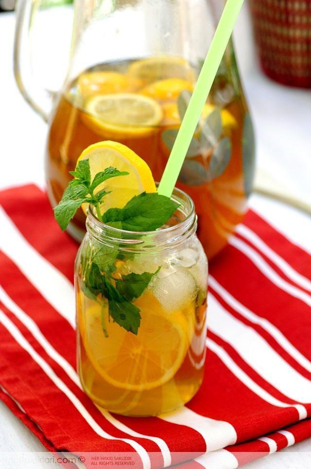 Buzlu çay (yeşil çaylı)