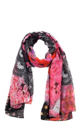 Desigual Women's Newtropical scarf. Our pashminas are the best. Check out the size: 190x105 cm. / 74.1