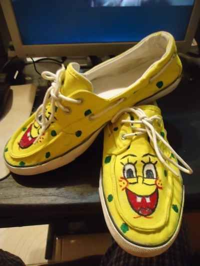 Spongebob on your shoes ? Learn how to do it yourself