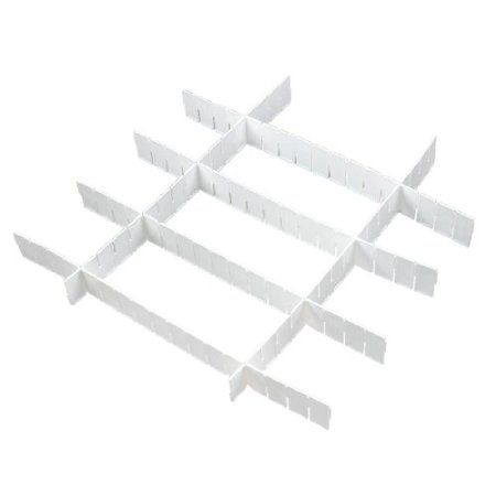 Amazon.com: Amico Home White Plastic DIY Grid Drawer Divider Storage Organizer: Home & Kitchen