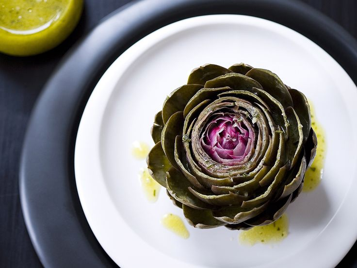 Embrace the brilliant flavour of whole artichokes, cooked until tender and drizzled with a tangy garlic mustard vinegarette.