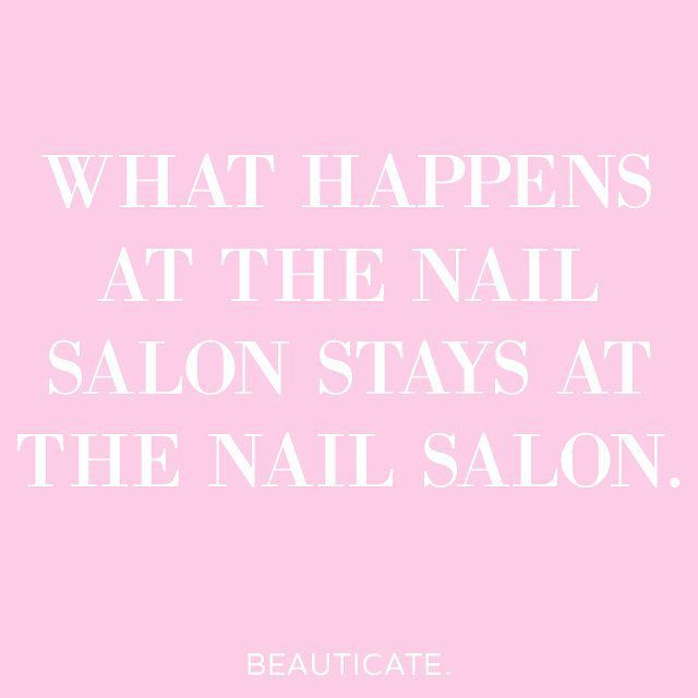 The bond between an essie girl and her manicurist is unbreakable.