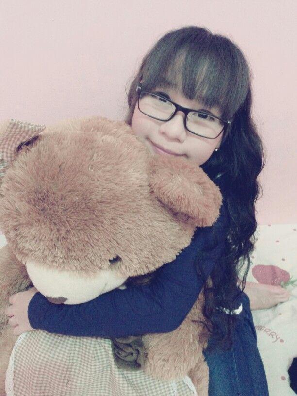 Cutie with Teddy Bear
