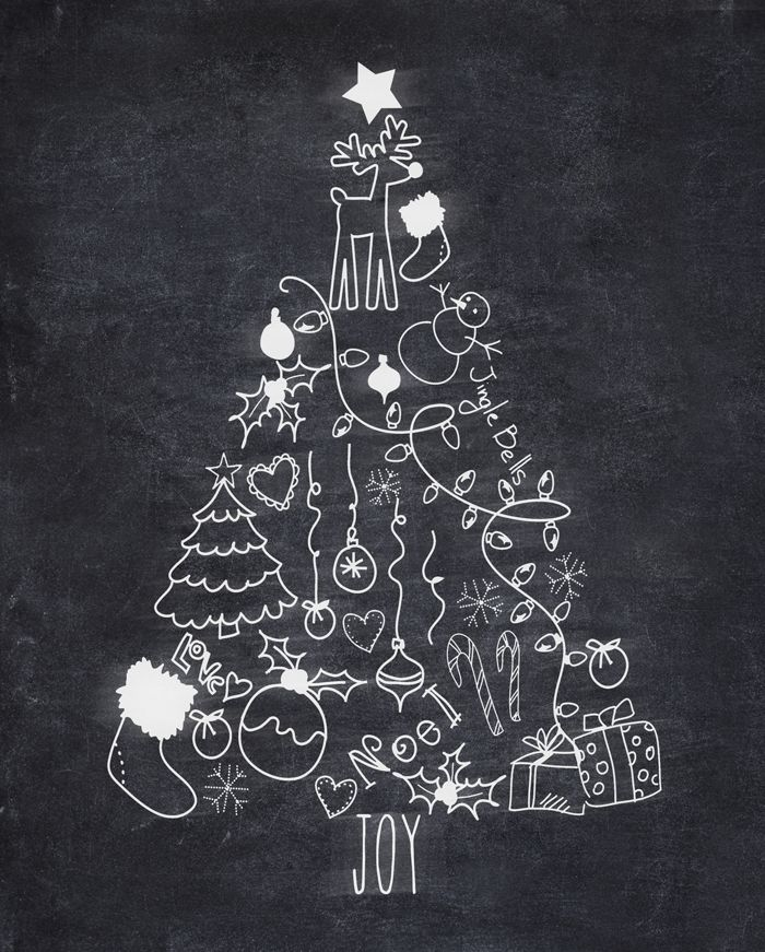 i should be mopping the floor: Free Christmas Tree Chalk Printable & Amazon Gift Card Giveaway
