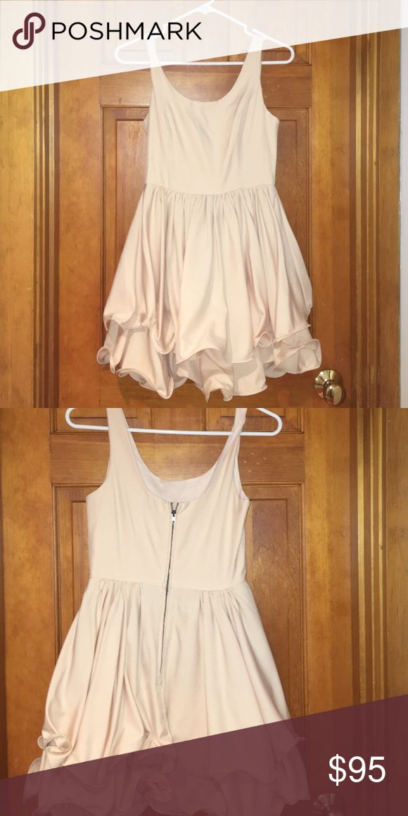 LF cream formal dress Awesome formal dress!!! Great for weddings, only worn once! Motivated seller LF Dresses Mini