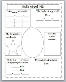 Free! Third Grade Thinkers: Week One....DONE! Love Chrysanthemum suggestion shown in link for first day!
