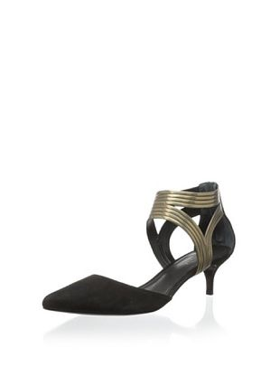 50% OFF Schutz Women's Bia Ankle Strap Pump (Black/Bronze)