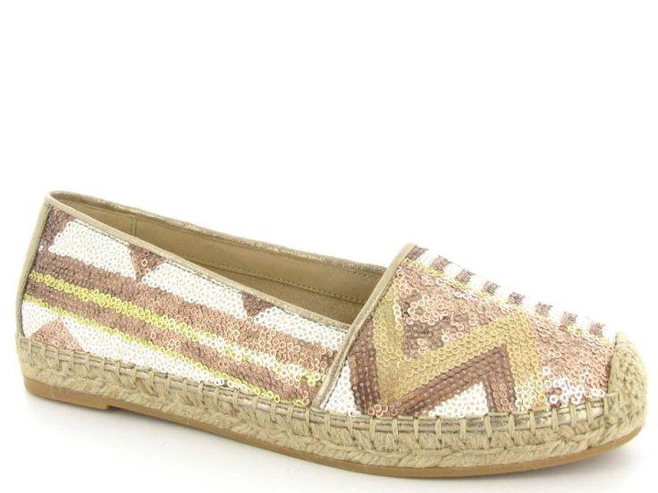 Espadrilles met pailletten van het merk Gabor, model 44.402.  €99,95 #trend #espadrilles #sequins #pailletten #instappers #schoenen