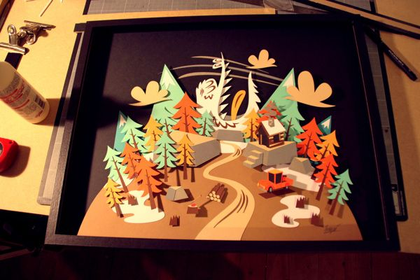 Mountain - Paperframe by Tougui 1, via Behance