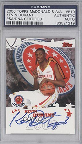 Kevin Durant PSA/DNA Certified Auto AUTHENTICATED AUTHENTIC (Basketball Card) 2006 Topps McDonald's High School All American Autographs