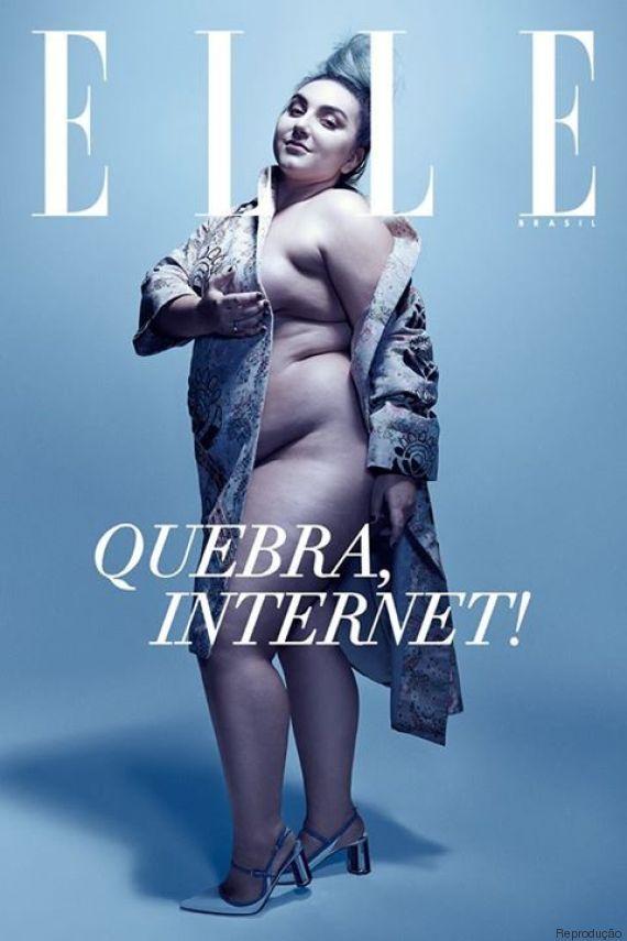 Orgulho ! ;-) Juliana Romano, jornalista e blogueira plus size, estrela edição histórica da ELLE Brasil ❤
