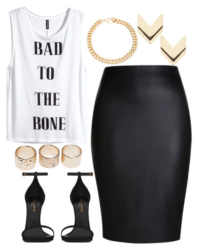 """""""911."""" by adc421 on Polyvore featuring H&M, Yves Saint Laurent, Wet Seal, Alessandra Rich and Leslie Danzis"""