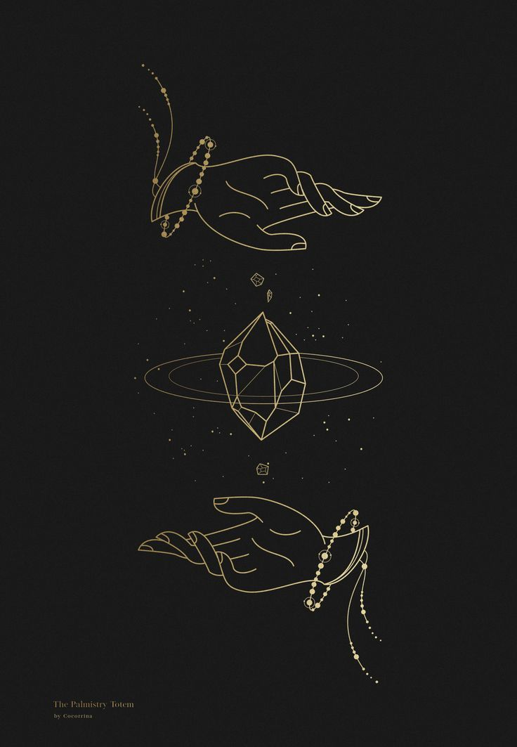 The Palmistry Totem – Little Gold Pixel • Gallery Wall & Graphic Design Guru