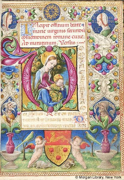 Within floreate initial D, Virgin Mary and Christ Child | Book of Hours | Italy, Ferrara | ca. 1461 | The Morgan Library & Museum
