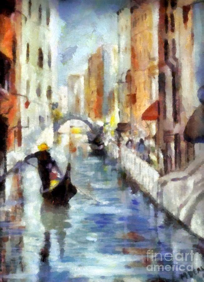 Venice canal with Gondola