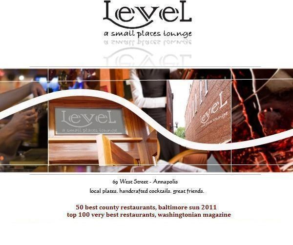 level small plates lounge: 69 west street annapolis, md 21403 410.268.0003