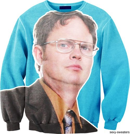 Yes!: Dwight Sweatshirts, Birthday Presents, Christmas Presents, Clothing, The Offices, Christmas Sweaters, Dwight Sweaters, Battlestar Galactica, Christmas Gifts