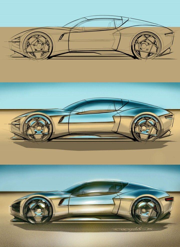 Sketchover #6 – Car reflections tutorial by Aurélien François