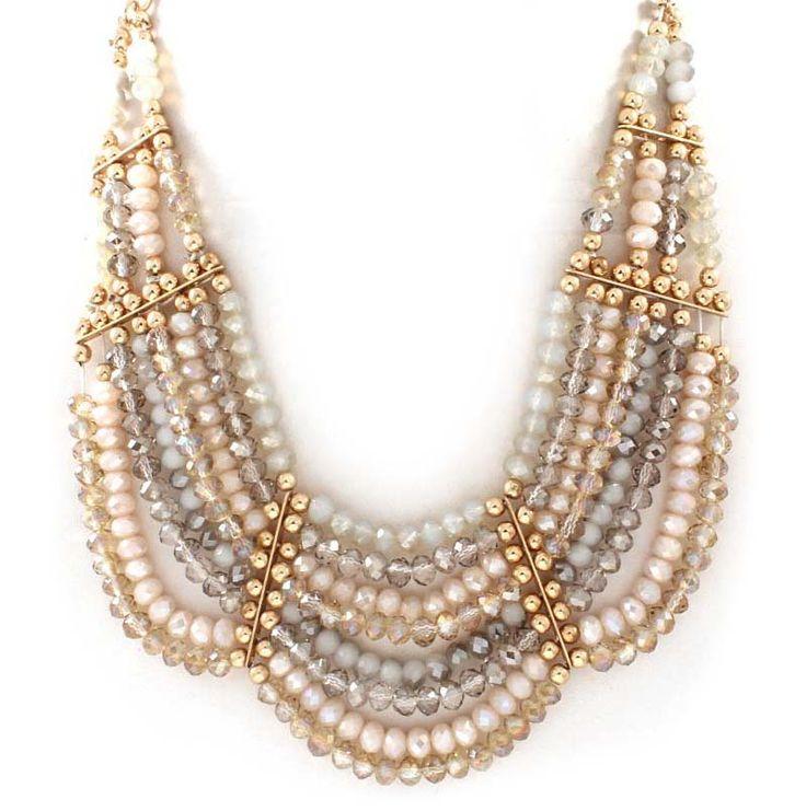 Crystal Dakota Necklace in Mocha Vitrail