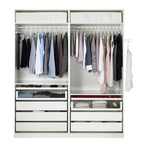 Pax armoire penderie blanc auli miroir mirror glass the floor and suits - Armoires dressing ikea ...