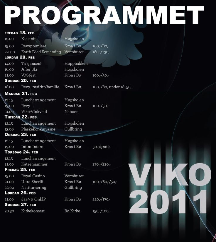 Programment for Studentuks(VIKO 2011)