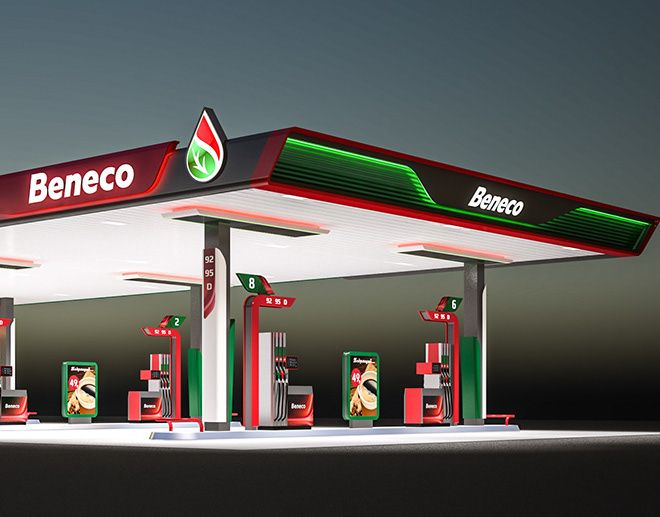 Beneco Design And Visualization Filling Station Gas Station Station