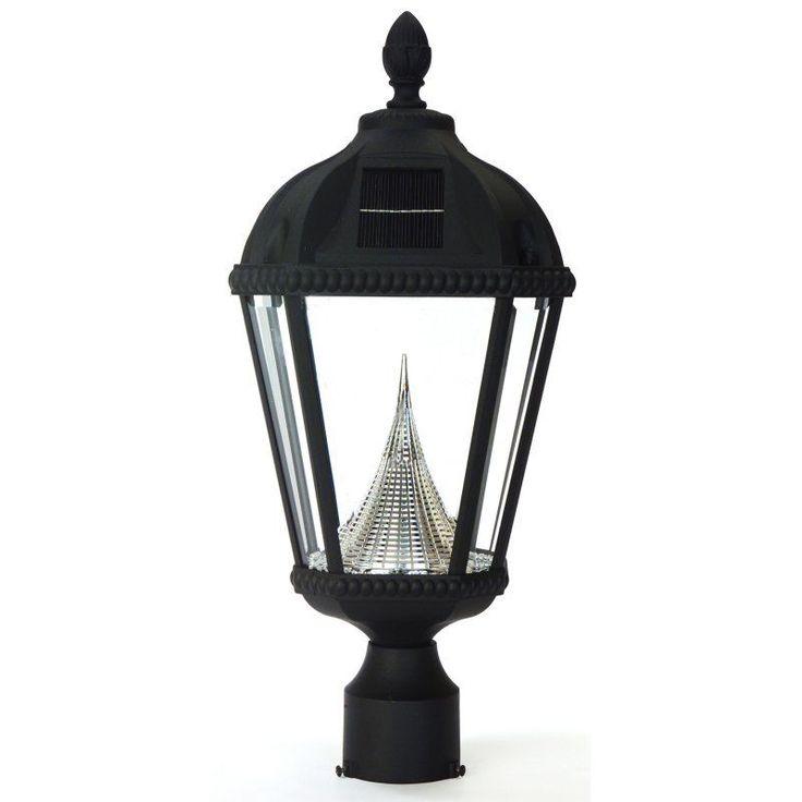 Gama Sonic Royal Solar LED Light Fixture Black - 98012