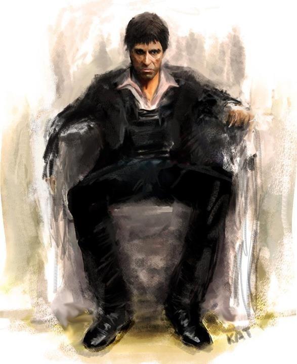 Amazing illustration of #Scarface