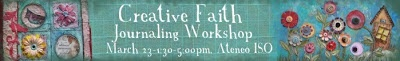 Win a free slot to Creative Faith Journalling Workshop this March!