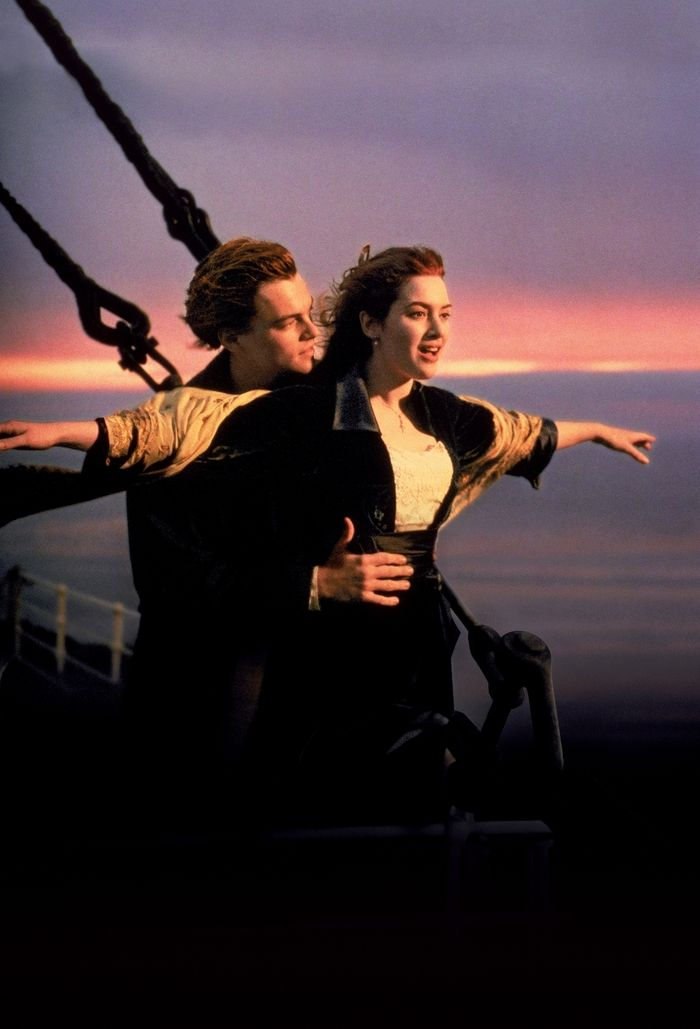 Leonardo DiCaprio and Kate Winslet in Titanic: Saw the titanic display in Vegas, very moving....watching Leonardo in the movie was a nice plus:)