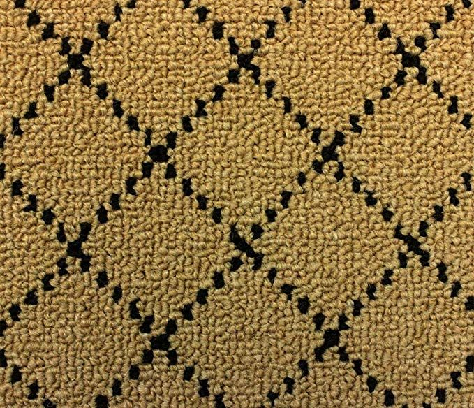 3 X5 Indoor 26oz Berber Area Rug Goldstock Black Diamond Pattern Durable Area Rug For Home With Premium Bound Polyester Edges Review Berber Area Rugs Area Rugs Rugs