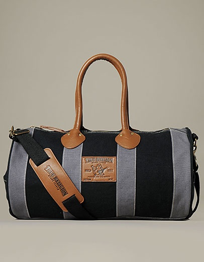 The Limited Edition Canvas Duffle Bag By True Religion Is Perfect For Weekend Getaways Or Trips To Gym Roomy Storage Provides Ample Space