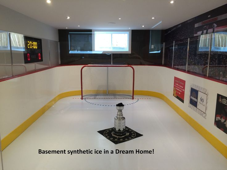 Ever thought about putting a synthetic ice rink in your basement? Check out this Ottawa dream home basement synthetic ice rink.