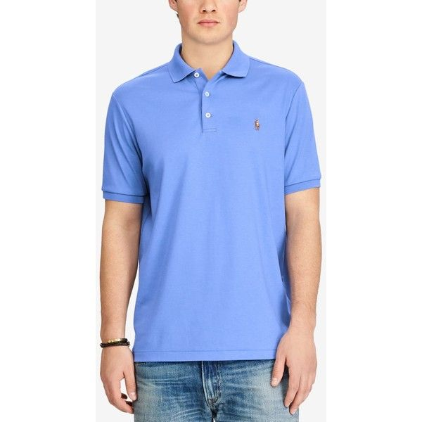 Polo Ralph Lauren Men's Classic Fit Soft Touch Cotton Polo ($85) ❤ liked on Polyvore featuring men's fashion, men's clothing, men's shirts, men's polos, scottsdale blue, mens long sleeve polo shirts, mens blue striped shirt, mens striped long sleeve shirt, polo ralph lauren mens shirts and mens mesh shirt