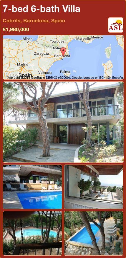7-bed 6-bath Villa in Cabrils, Barcelona, Spain ►€1,980,000 #PropertyForSaleInSpain