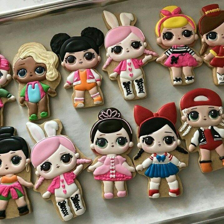 Lol Surprise Birthday Party. Lol Surprise Cookies. Lol Surprise Dolls Cookies.