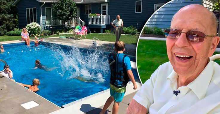 Keith Dacison perdió a su esposa a causa del cáncer y la soledad se sintió terrible, por ello este abuelo de 94 años construyó una piscina para no estar solo.