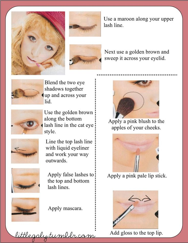 Line Your Top Lash With A Maroon Eyeshadow Apply Golden Brown