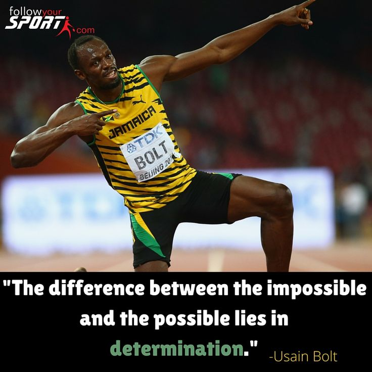 #Usain St. Leo #Bolt  is a Jamaican sprinter. Regarded as the fastest person ever timed, he is the first man to hold both the 100 metres and 200 metres world records since fully automatic time measurements became mandatory in 1977. He is the reigning Olympic champion in these three events, and the first man at the modern Olympic Games to win six gold medals in sprinting, and an eleven-time World champion. #Legend #Jamaica #Fitness #Motivation #Inspire #Run #Determination #Olympics