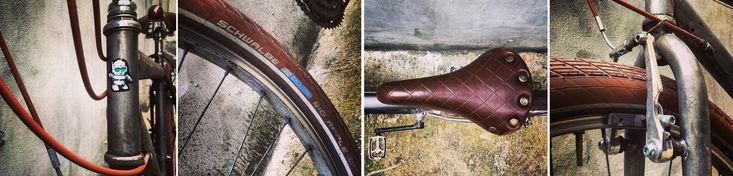 Una bicicletta steampunk si aggira per Milano - La forcella recuperata fa a pugni con il telaio? Un colpo di s-vernice e la bici nasce a nuova vita. In diretta dal Bianchi Café & Cycles Milano. - Read full story here: http://www.fashiontimes.it/2016/01/una-bicicletta-steampunk-si-aggira-per-milano/