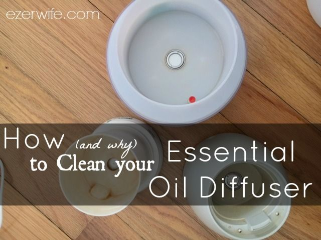 You spend good money on your oils and the diffuser. Now it's time to take care of that diffuser so you can enjoy the smells of fall (or cleanliness or spring) for years to come. // The Ezer Wife